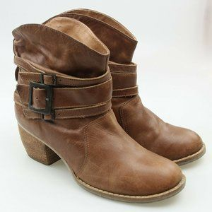 VTG MIA Western Slouchy Brown Leather Boots